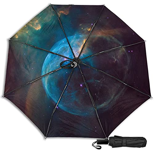 LYYNBLA NebulaCompact - Paraguas de viaje para exteriores, con diseño de triple, resistente al viento, para exteriores, lluvia y sol, Impresión interior., Taille unique