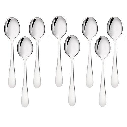 Fablcrew cucchiaio cucchiai cucchiaini da caffè in acciaio INOX per yogurt gelato 24* 17MM set di 8