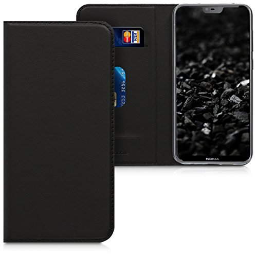 kwmobile Nokia 6.1 Plus (2018) / X6 Cover - Custodia a Libro in Simil Pelle PU per Smartphone Nokia 6.1 Plus (2018) / X6 - Flip Case Protettiva