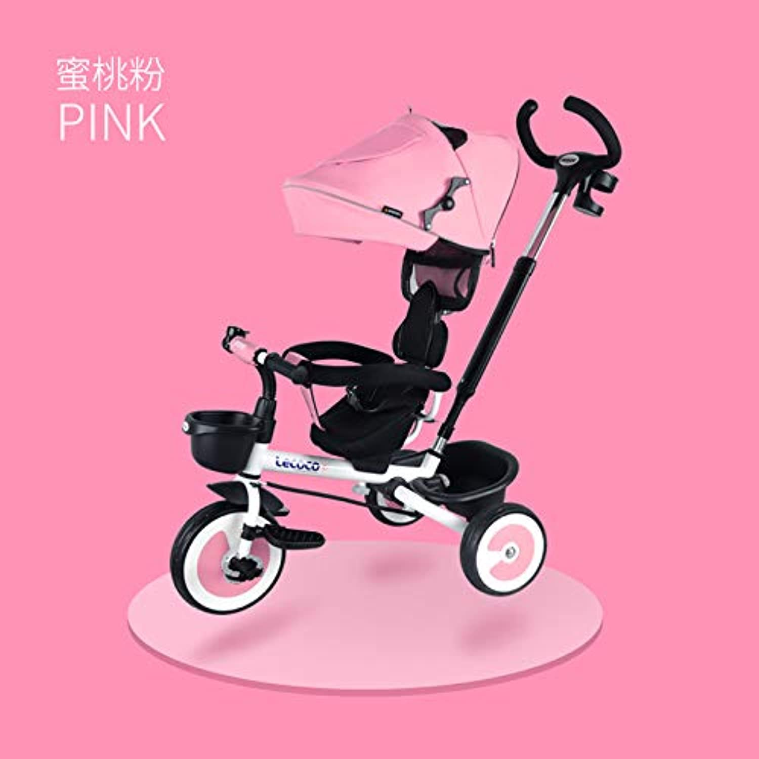 Lecoco Music Card Tricycle Folding Bike Stroller Baby Stroller 136 Baby Slipped Artifact