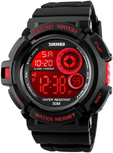Fanmis Military Multi Function Digital LED Quartz Watch Water Resistant Electronic Sport Watches Red Change Time Casio G-shock Watch
