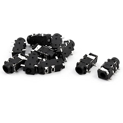 Aexit Kunststoff 5 Pins Panel Mount 3,5 mm Stereo Kopfhörer Buchse Adapter 10 Stück Schwarz (c1db3ae02a85ea69e86dfa2e9fd225e2)