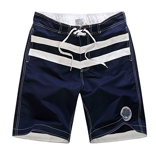 Surf Briefs Swimwear Men Casual Collision Patchwork Beach Surfing Loose Shorts Pants,Dark Blue,XXL