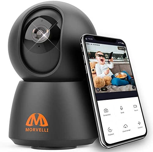 Morvelli FHD30 WiFi Smart Home Security Camera 1080P Indoor Wireless Baby Monitor with Phone product image