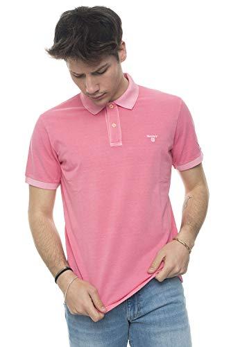 Gant, Herren-Poloshirt aus Baumwollpikee, sonnengebleicht, Rosa, 2052028, Pink, 2052028 Medium