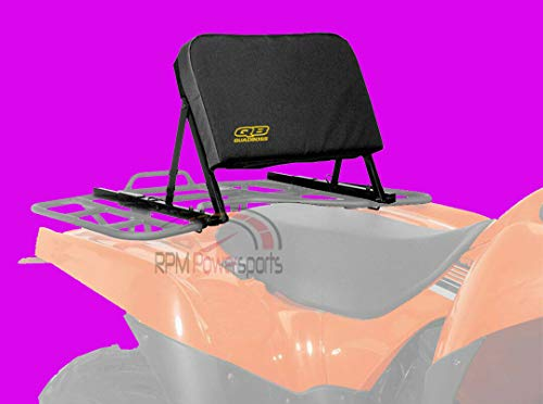 QuadBoss ATV Backrest Mounts to Rear Rack Compatible with Honda Rubicon 500 TRX500 All Years
