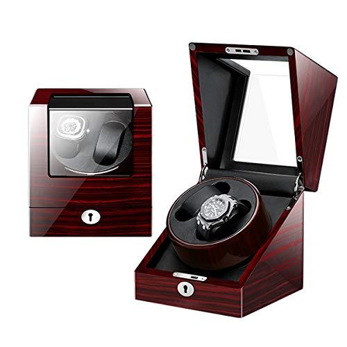 YZSHOUSE Reloj automático devanadera Caja Slient Motor y 5 Rotación Modos Reloj Caja Almacenamiento silencioso del Motor Adaptador CA y con Pilas for la 2Relojes (Color : E)
