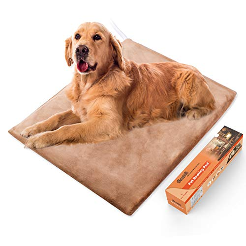 Bestio Pet Heating Pad 19.68``25.59``for Large Dog Heated Pet Pad Mat Dog Bed Warmer MET Certified Even Constant Temperature Heavy Duty Chew Resistant Cord Water Proof