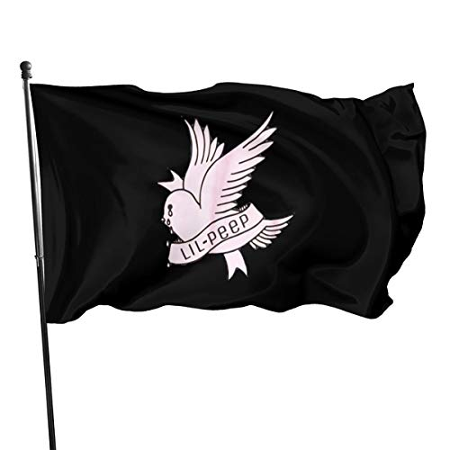 FHJEyh3 Lil-Peep Rapper Crybaby Bird Seasonal Garden Flag Set for Outdoors 3x5 Ft