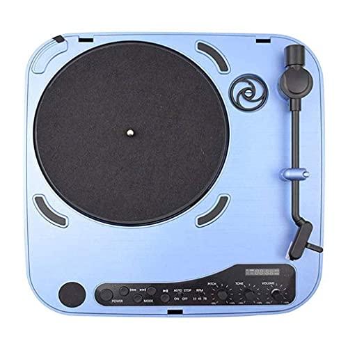 ZSMLB Carillon Giradischi Altoparlante Bluetooth FM Giradischi Giradischi Portatile Wireless Multifunzione Ricaricabile Giradischi per intrattenimento Decorazione Domestica Home