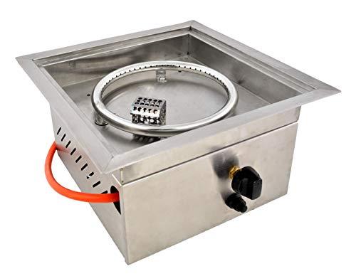Clifton outdoorfires DIY Brenneinsatz Brennereinsatz Brennkammer Einbaubrenner Gas Tischkamin Edelstahl Verschiedene Größen (Compact)