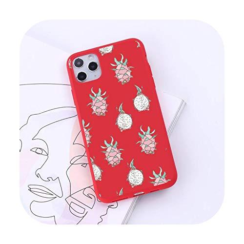 Dibujos animados verano fruta moda diseño lujo teléfono móvil caso caramelo color para iPhone 6 7 8 11 12 s mini pro X XS XR MAX Plus-a10-iPhone11
