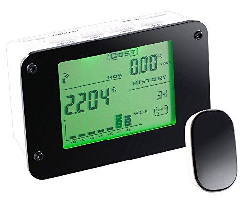 CASAcontrol Strommesser: Funk-Energiekostenmesser für den Sicherungskasten, mit Alarmfunktion (Energiemonitor Stromzähler)