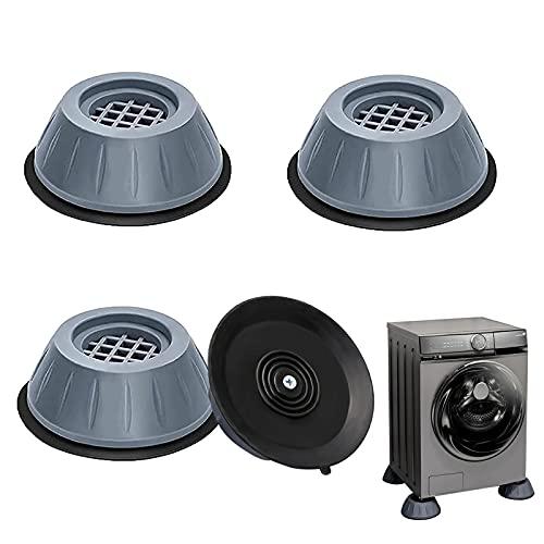 Amortiguador de Vibraciones para Lavadoras 4pcs Universal Arandelas Antivibraciones para Lavadora y Secadora Soporte de Goma Antivibración de Bajo Ruido Para Secadora