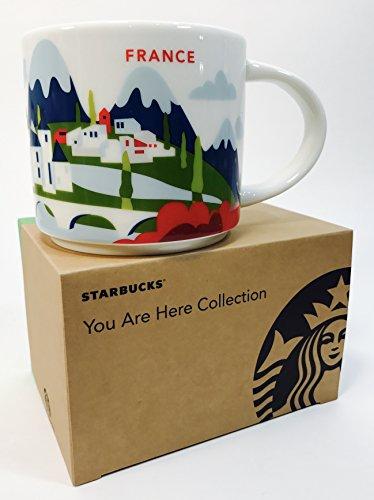 Starbucks Stadt-Becher Sie Befinden Sich Hier Sammlung Frankreich Kaffeetasse 14 Oz Grün