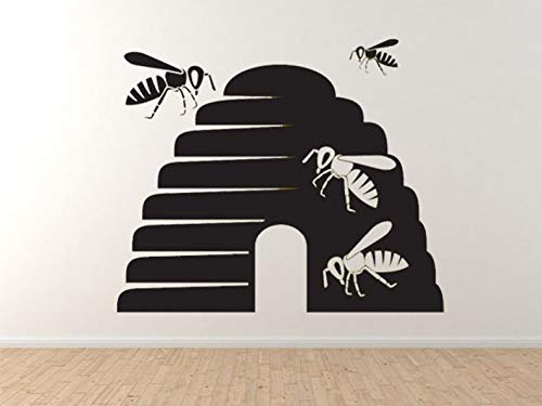 Bee Icon #5- Honingraat Honing lokale kolonie Nectar Hive muur Vinyl Decal Home Decor