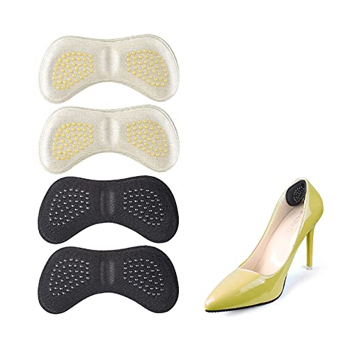 iZhuoKe Tallone Cuscino(2 Paia),Cuscini per Tallone Pad Heel,Tacco Adesivi Tacco Cuscinetti Cuscino Scarpa Solette Antiscivolo Autoadesivo para Talloni per Scarpe