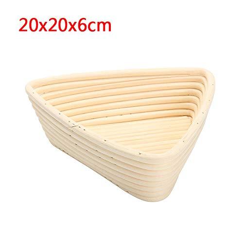 MJJEsports Triangle Banneton Brotform rotan mand brood deeg bewijzen rijzende brood bewijzen 3 maten, 2, 1
