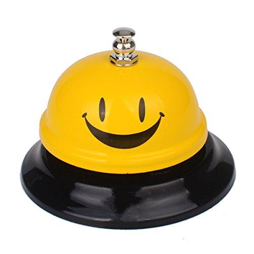 MINGZE Timbre de recepción Llamada. Reloj de Campana de Barra Grande de Acero Inoxidable, Cocina Llamada Bells (Amarillo)
