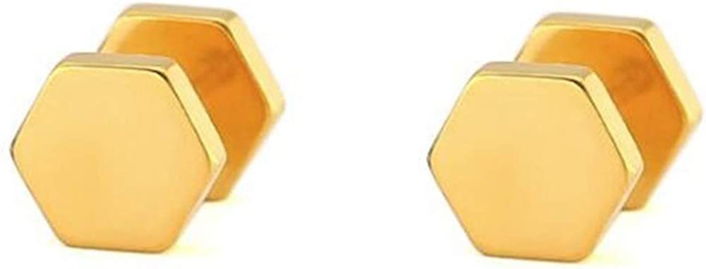Stainless Steel Geometric Shape Classical Simple Plain Stud Earrings
