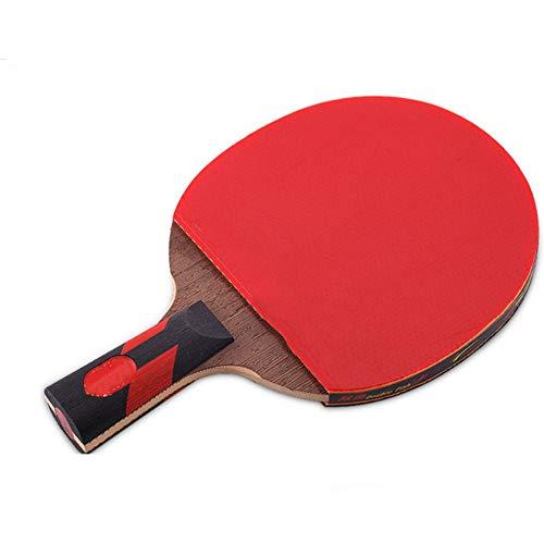 QinWenYan Paleta de Ping Pong Siete Estrellas Shot Tabla Raqueta de Tenis Horizontal Mesa de Ping Pong Junta Pong Terminado Raqueta Producto Pong Raqueta de Ping para Exteriores