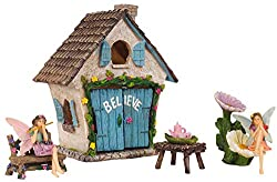 Image: Mystic Garden Fairy Garden Kit; Believe House and 9 Fairy Garden Accessories for Indoor/Outdoor Decoration; Garden and Home Decor