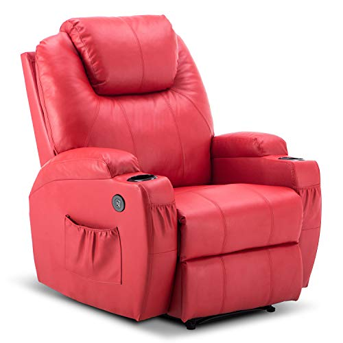 Mcombo Electric Power Recliner Chair with Massage and Heat,...