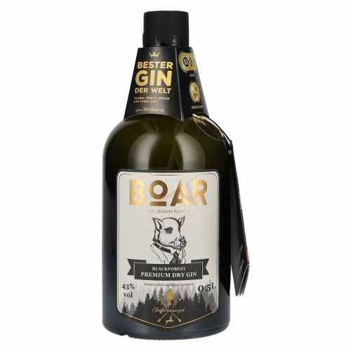 BOAR Blackforest Premium Dry Gin 43,00% 0,50 Liter