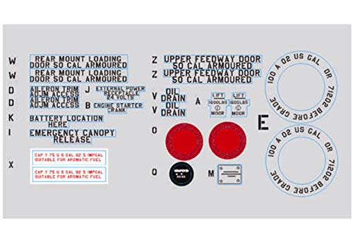 Vehicles-OCS FMS 1400mm 1.4m P-51B P51 Mustang Detailed Decal Sheet Stickers ST131 RC Airplane Aircraft Model Plane Spare Parts Vehicles-OCS
