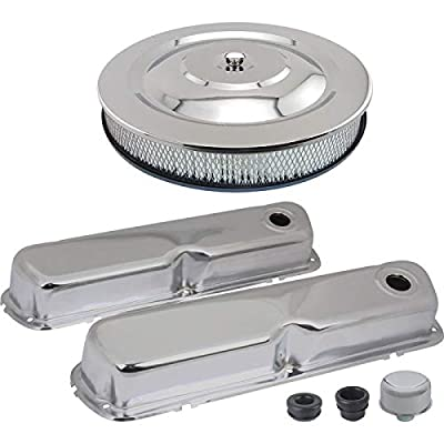 MACs Auto Parts 44-38832 - Mustang Chrome Engine Dress-Up Kit, 260/289/302/351W V8