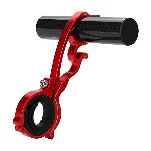 Yagosodee Soporte de Extensión de Extensión de Manillar de Ciclismo para Bicicleta para Lámpara GPS/Unidades/Faros (Rojo)