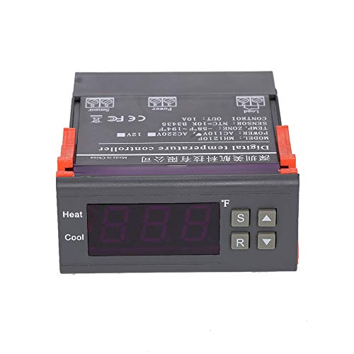Docooler Digital Temperature Controller Thermocouple with Sensor (-58~194°F) 10A 110V