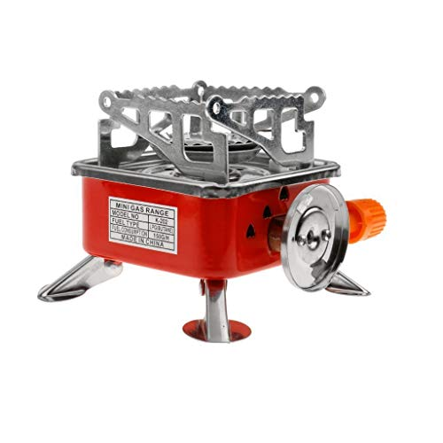 Kriva Portable Gas Stove Burner and Camping Stove Folding Furnace 2800W | Outdoor Stove | Picnic Cooking Gas Burners (Red Butane Burner)