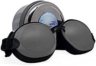 Tranquileyes Mini Sleep Mask for Nighttime Dry Eye Relief (Charcoal)