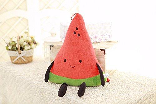 Kawaii Wassermelone Kissen Frucht Plüsch Kissen Smile Expression weich Plüsch Spielzeug Puppen für Weihnachten Geburtstag Junge und Mädchen (Smile Watermelon)