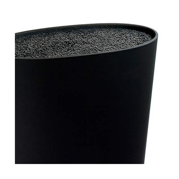 San Ignacio Tacoma / Bloque de cuchillos universal, gran capacidad, lavable, goma plástica, negro