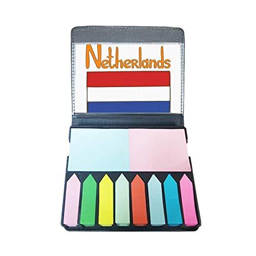 Nederland Nationale Vlag Patroon Zelf Stick Note Kleur Pagina Marker Doos