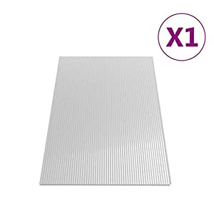 vidaXL Panel Lámina Placa de PC Cubierta Invernadero de Cámara Hueca Doble Pared Múltiple Ligero Fuerte de Policarbonato 4 mm 121x60,5 cm