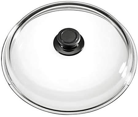 MaxxGoods Simax - Coperchio in vetro (Ø 32 cm) con pulsante resistente al forno
