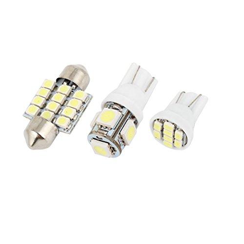 sourcingmap 13 pcs LED Blanc Dôme Emballage interne Kit pour Corolla 2000-2013