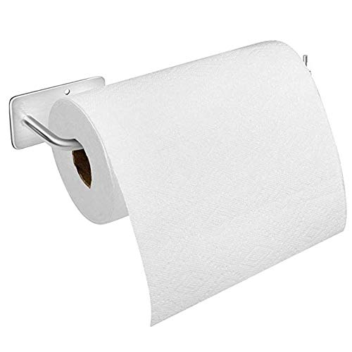 """Paper Towel Holder Wall Mount, with Adhesive Stainless Steel Paper Towel Holder, No Drilling Required (12"""" x 3.14"""")"""