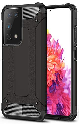 YoTEer Air Armor, Kompatibel mit Samsung Galaxy S21 Ultra Hülle, Doppelte Schutzschicht Extrem Fallschutz Handyhülle Schutzhülle Case, Schwarz
