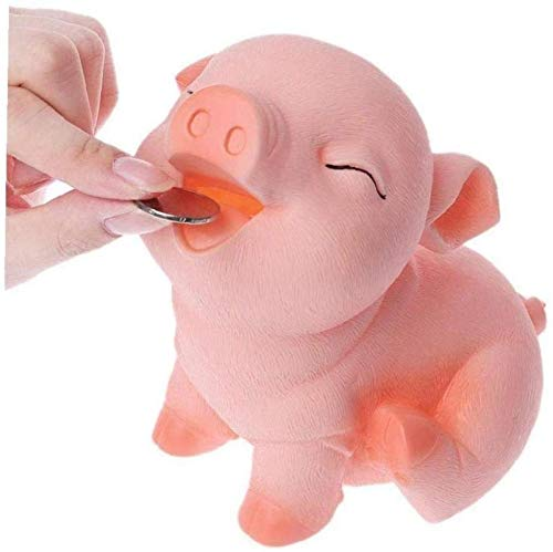 ZKZKK Mini Caja de Dinero Lindo Lindo Piggy Bank Adorable Cerdo En Forma de Moneda Bank Money Bank Poggy Bank Saving Pot Regalo de cumpleaños Regalos de Juguete niñas.