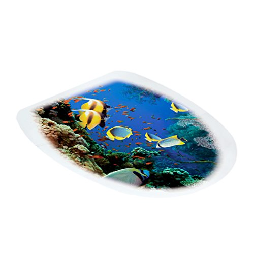 F Fityle WC Sitz Aufkleber Folienaufkleber Toilettensitz Bad WC Dekor Stickers-, Auswahl - Tropische