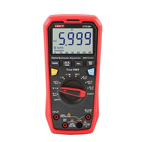 UNI-T UT61B+ Digital Multímetro Verdadero RMS AC/DC Voltaje Actual Resistencia Capacidad Ensayador