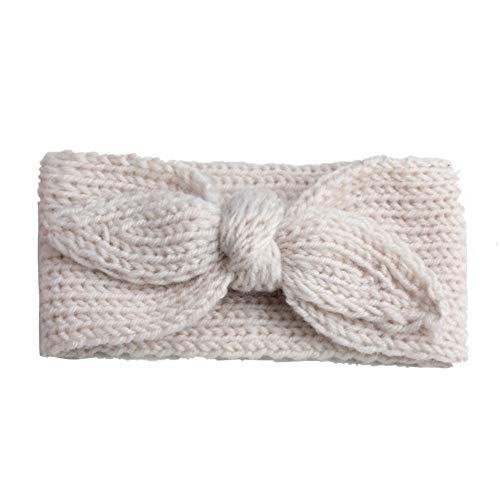 Haarband met haakjes, voor baby's, gebreid, haas, oren, turban, winter, warm #8