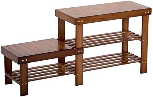1yess (Banco de Zapatos Alto y bajo) - Rack de Almacenamiento de bambú multifunción, 98 * 27 * 45cm Hall Corridor de Calzado Zapato de Almacenamiento de Zapatos Bank Shoebox (Tamaño: 98 * 27 * 45cm)