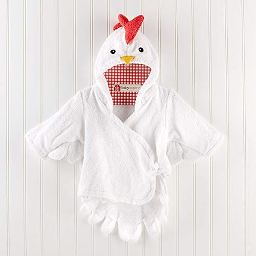 Avmy 30 Designs Hooded Animal Modeling Baby Bademantel/Charakter Kinder Bademantel/Baby Strandtücher, weiße Chiken