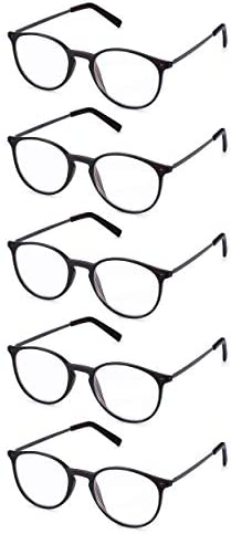 Ready Reader Round Spectacles 3 0 Read Optics Mens Womens 1 to 3 5 Non Prescription Reading product image
