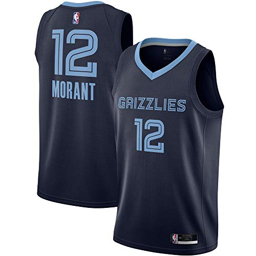 Ja Morant Memphis Grizzlies #12 Official Youth 8-20 Navy Icon Edition Swingman Jersey (14-16)